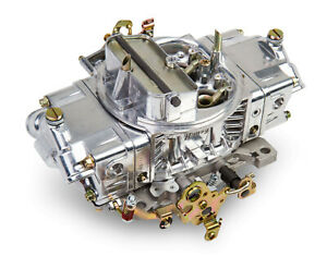 Holley 0 4776sa 600 Cfm Shiny Double Pumper Carburetor W Manual Choke