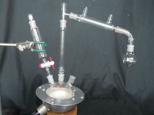 Used Micro Distillation Apparatus Column Condenser Addition Funnel Mantle