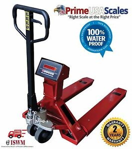 Pallet Jack Scale 5 000 Lb Pallet Truck Scale Wash Down Load Cells Ip67