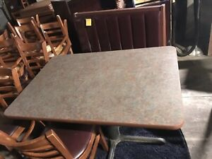 Large Booth Seating Chairs For 145 People Restaurant Bases Tables Used Nice