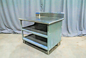 Sturdy Stainless Steel Prep Table Cabinet Shelves 1964 Virginia Church Salvage