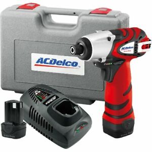 Acdelco 12v Impact Driver Kit 1265 In Lbs 2 Battery Included Ari1265