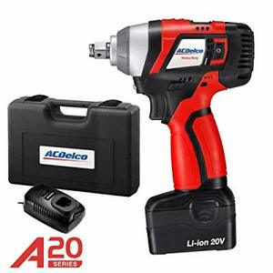 Acdelco 1 2 Impact Wrench 20v Tool Kit Brushless Ari20156 m