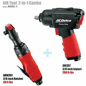 Acdelco 3 8 Impact Wrench With 3 8 Ratchet Air Tool Combo Ansc 1