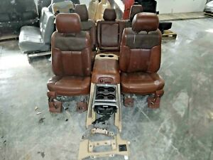 2011 2016 F250 F350 Superduty Front Rear Seat Set King Ranch Leather Interior
