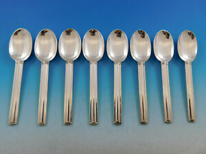 Cannes By Puiforcat France Sterling Silver Flatware Set Of 8 Coffee Spoons 5