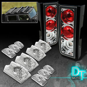 03 09 Hummer H2 Altezza Tail Lights 10pcs Cab Head Roof Running Lamps W Bulbs