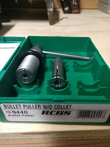 RCBS Bullet Puller WO Collet PN 9440 & Collets for 22 Cal & 30 Cal