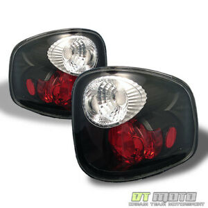Black 2000 2003 Ford F 150 Flareside Altezza Tail Lights Lamps Left Right Pair