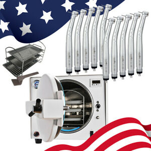 Dental Autoclave Steam Medical Sterilizer Clean 18 L With Nsk Style Handpiece 4h