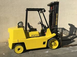 Hyster Forklift S135xl With 5 Forks Swing Shift And Fork Positioners