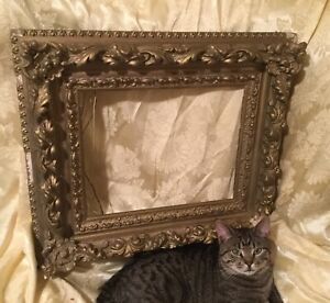 19thc Large Very Ornate Antique Oil Painting Frame Museum Quality Gilt Rococco