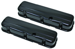 Bb Chevy Big Block Black Steel Tall Style Valve Covers 396 427 454 W Grommets