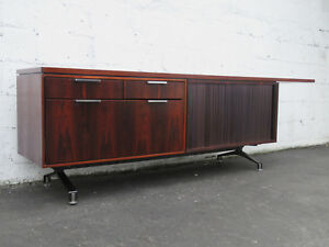 Mid Century Media Console Office Cabinet File Drawer Sideboard By Imperial 9015