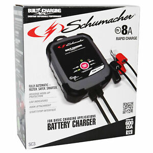 Schumacher Fully Automatic Battery Charger 12v 8a 600 Cga Car Truck Suv Van Rv