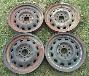 Hot Rat Rod Dodge Plymouth Ford Artillery Wheels 1933 1934 1935 1936 1937 4 5