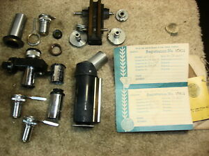 Gropu Of Bausch Lomb Microscope Parts Lenses Mechanical Eyepieces