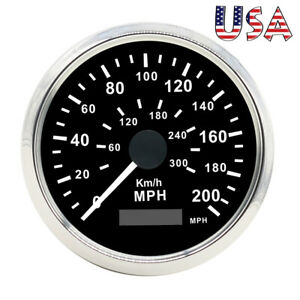 Universal 85mm Gps Speedometer 200mph Car Truck Motorcycle Digital Odometer Usa