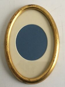 Old Oval Lemon Gold Frame W 7 By 4 1 2 With Old Glas And Mat