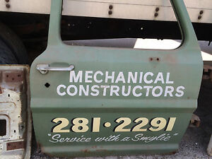Vintage Antique Truck Door W Classic Hand Painted service With A Smile