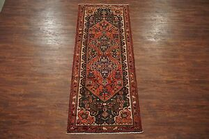 Antique 4x9 Persian Sarab Birds Hand Knotted Gallery Runner Wool Rug 3 7 X 9 6