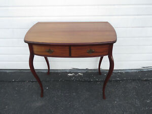 Early 1900s Small Writing Desk Vanity Table By Paines Furniture 9475
