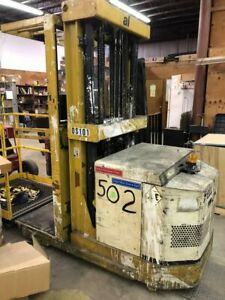 Used Yale Os30bb 24v Electric Battery Order Picker 42 x4 Forks 196 Lift 3000lb