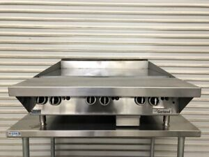 36 Thermostatic Gas Griddle Flat Top Grill Chrome Plate Garland Gtgg36 9608