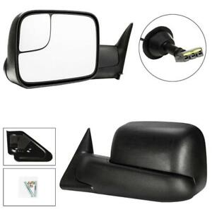 For 1994 1997 Dodge Ram 1500 94 97 2500 3500 Tow Flip Up Power Mirrors Pair