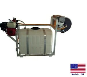 Sprayer Commercial Skid Mounted 9 5 Gpm 580 Psi 5 5 Hp 100 Gallon Tank