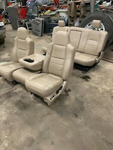 04 Ford F 250 Lariet Driver Center Passenger Rear Seats No Rips Power Heated
