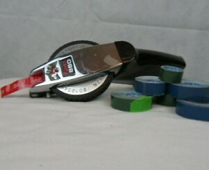 Vintage Rotex 880 Black And Chrome Heavy Duty Label Maker 3 8 1 2 Embossing