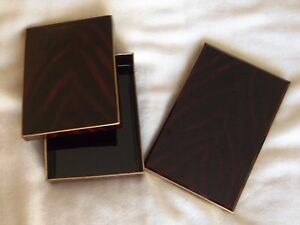 Rare Vintage Otagiri Brown Address Book Note Box Set Limited Edition Japan