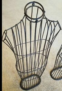 Vintage Iron Wire Metal Dress Form Mannequin Table Top Display 32 Tall Buy 1 2