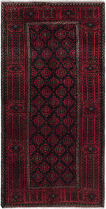Hand Knotted Persian Carpet 3 2 X 6 2 Persian Vintage Wool Rug Discounted