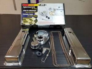283 327 350 400 Small Block Chevy Chrome Dress Up Kit Mr Gasket 9834 1958 1986
