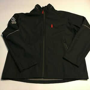 2014 COCA COLA Partner Sochi Winter Olympics Mens Black Jacket Large