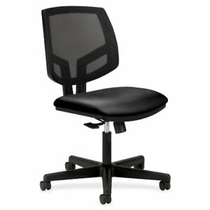 Hon 5711sb11t Volt Mesh Leather Task Chair Black Leather Black Seat Plasti
