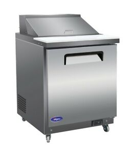 Valpro Vp29s 29 1 door Commercial Sandwich And Salad Prep Table Refrigerator
