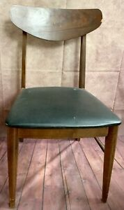 Mid Century Vintage Chairs Danish Wood Stanley Dining Arm Desk Accent Gray Retr