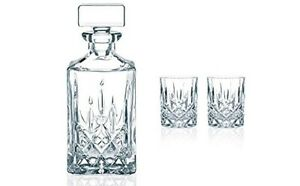Brand New Nachtmann Noblesse Decanter And Whisky Glass Set Of 3 91899
