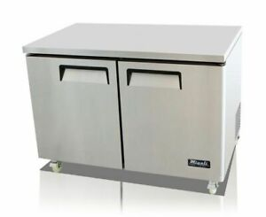 48 2 Door Under Counter Freezer Migali C u48f hc New 9636 Commercial Nsf