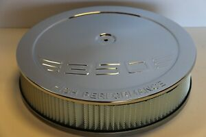 Sbc 350 High Performance Logo Chrome 14 X 3 Round Air Cleaner Filter Sb Chevy