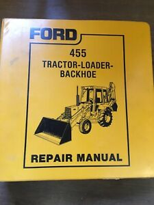 Ford 455 Tractor Loader Backhoe Service Manual Repair