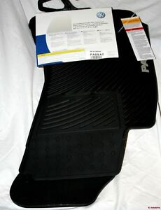 2002 2003 2004 Vw Passat Rubber Floor Mats Factory Oem Accessory Round Clips