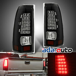 1999 2006 Gmc Sierra 1999 2006 Chevy Silverado Clear Led Tail Lights Left Right