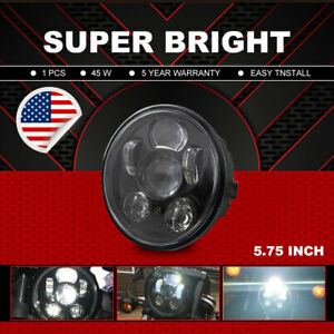 5 75 Led Headlight Projector Clear Sealed Beam 45w Pickup Truck Lamp Universal