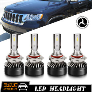 Led Headlight Bulbs For Jeep Grand Cherokee 2005 2010 Driving Lights Hi Low Beam