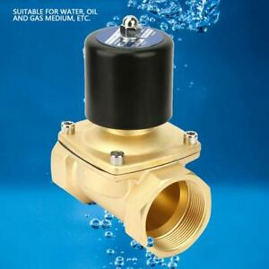 Dn50 Brass Normally Closed Electric Solenoid Valve For Water Oil Gas 5 80