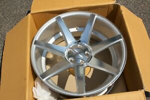New 20x10 5 112 Vossen Cv7 Silver W Polished Face Mercedes Audi Volkswagen